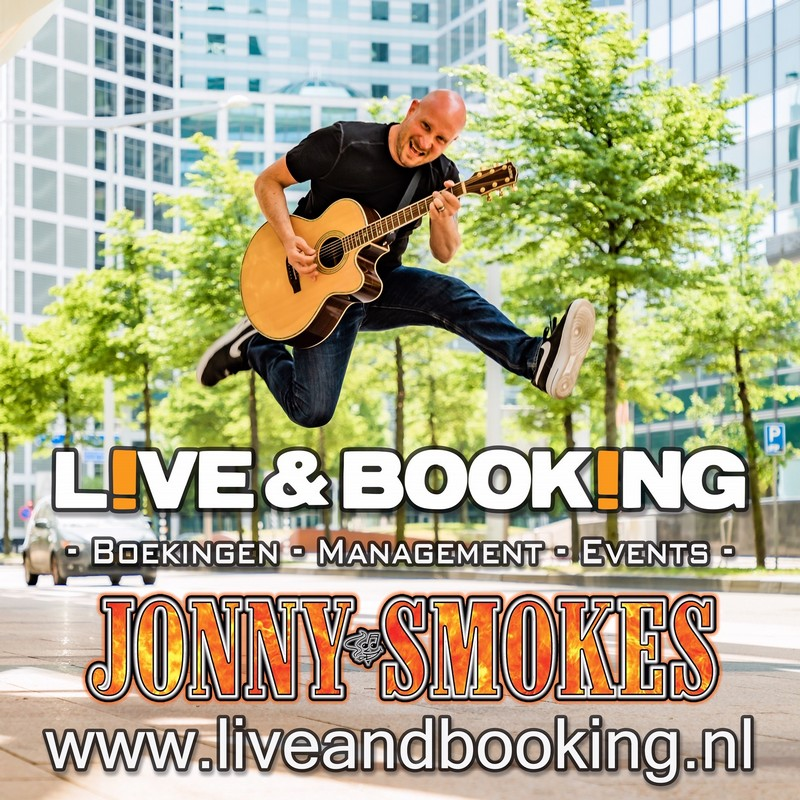Jonny Johnny Smokes events wedding cafe restaurant horeca living room house concert back yard garden concert terras party liveandbooking festival acoustic live music looping station one man show cover songs guitarist musician Rijswijk Den Haag
